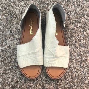 Free people Mont Blanc Sandals Off White